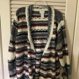 Sweaters - 🍂 Gorgeous Striped Waterfall Cardigan🍂